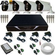 Sistema de Monitoramento Câmeras AHD 1.0 Megapixel com Gravador Dvr Acesso Celular - Alta Definição