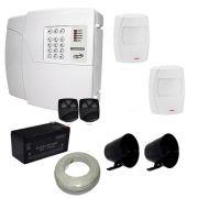 Alarme Residencial e Comercial PPA Central 4 Setores Com Discadora + 2 Sensores Infravermelho Pet 20Kg