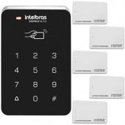 Controlador de Acesso Intelbras SA 202 Com Acesso Por Senha + 5 Cartões de Aproximação RFID Intelbras