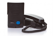 Interfone AGL Preto Com Protetor de Chuva Incorporado - Alta Resistência