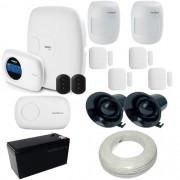 Kit de Alarme 1 central Intelbras AMT 2010 com Receptor Xas 4000 + 6 Sensores Sem Fio
