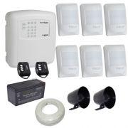 Kit de Alarme ECP Central Alard Max 1 Com Discadora 6 Sensores Infravermelho Sem Fio