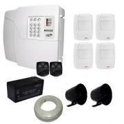 Kit de Alarme PPA Central 4 Setores Com Discadora Incorporada + 4 sensores Infravermelho Smart Solid