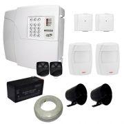Kit de Alarme PPA Central 4D 4 Setores Com Discadora Para 6 Números Telefônicos + 4 Sensores