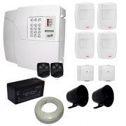 Kit de Alarme PPA Central 4D Com Discadora Para 6 Números Telefônicos + 6 Sensores PPA