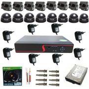 Kit DVR 8 Micro Câmeras de Monitoramento com Gravador Stand Alone - Acesso via Internet