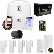 Kit Jfl Com 1 Central De Alarme Active 32 Zonas + 6 Sensores