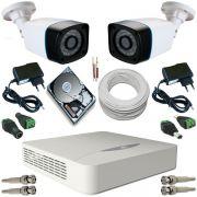 Kit vigilância 2 Câmeras ANKO Bullet 24 Leds Infravermelho AHD 1.3 Mp DVR JFL 4 Canais 5 em 1
