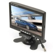 Monitor LCD 7 Polegadas Colorido Para Carros e Câmeras de Segurança - Alta Resolução