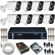 Sistema de Monitoramento 8 Câmeras Full HD 1080p 2 Megapixel + DVR Intelbras MHDX 1008