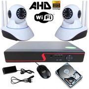 Sistema de Segurança 2 Câmeras Ip Infravermelho AHD 1.3 Mp DVR 4 Canais + HD 250Gb