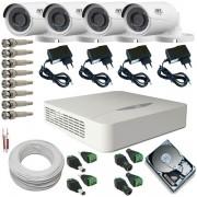 Sistema de Segurança JFL 4 Câmeras infravermelho AHD 1.0 Mp 720p DVR 4 Canais
