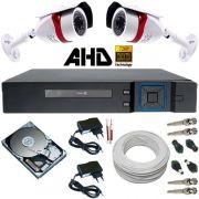 Sistema de Vigilância 2 Câmeras 36 Leds Infravermelho AHD 1.3 Mp + DVR Multi HD
