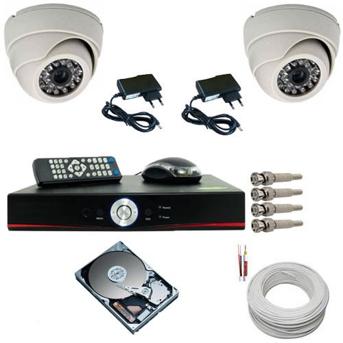 Kit sistema de segurança com 02 câmeras infravermelho dome e gravador dvr stand alone com acesso Internet  - Tudoseg Cftv - Sistemas de Segurança Eletrônica