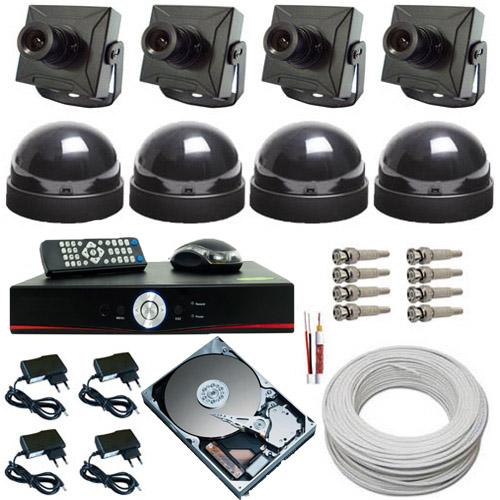 Kit 4 Câmeras de Segurança com Gravador Dvr Stand Alone - Acesso via Celular  - Tudoseg Cftv - Sistemas de Segurança Eletrônica