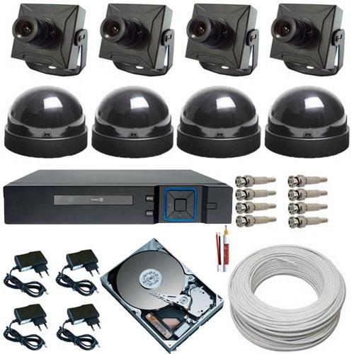 Kit 4 Câmeras de Segurança analógicas com Gravador Dvr Stand Alone Multi HD - Acesso via Celular  - Tudoseg Cftv - Sistemas de Segurança Eletrônica