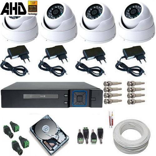 Kit 04 Câmeras de Segurança Dome Metal AHD-M 1.3 Megapixel Dvr Multi HD 5 em 1  - Tudoseg Cftv - Sistemas de Segurança Eletrônica