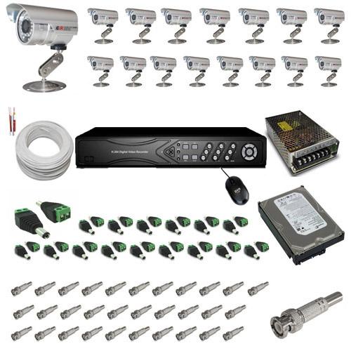 Kit 16 câmeras infravermelho 30 metros 1000 linhas com gravador Dvr Stand Alone- Acesso imagens pela Internet  - Tudoseg Cftv - Sistemas de Segurança Eletrônica