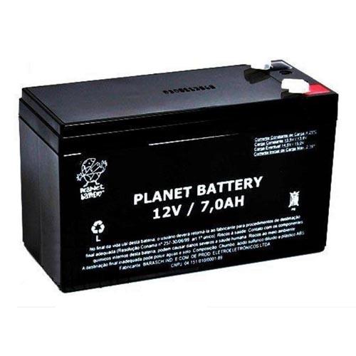 Bateria selada 12v 7A para centrais de alarme e choque  - Tudoseg Cftv - Sistemas de Segurança Eletrônica