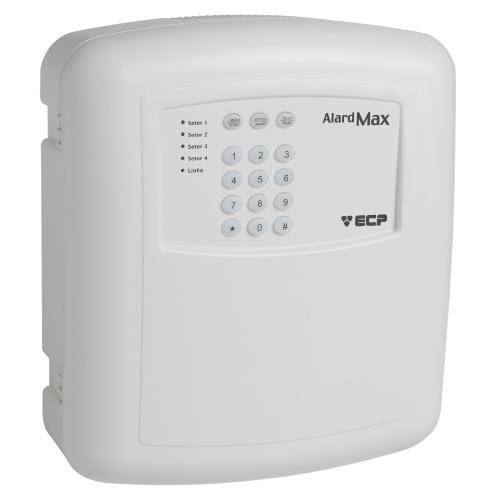 Central de Alarme ECP Alard Max 1 para sensores com ou sem fio- Com Discadora  - Tudoseg Cftv - Sistemas de Segurança Eletrônica