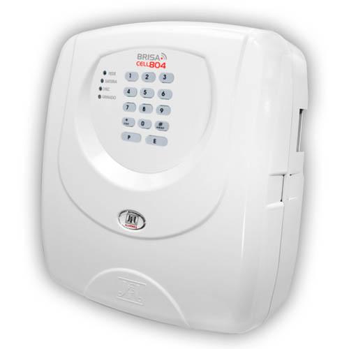 Central de Alarme JFL Brisa Cell 804 - 8 Setores com Discadora GSM (chip celular)  - Tudoseg Cftv - Sistemas de Segurança Eletrônica