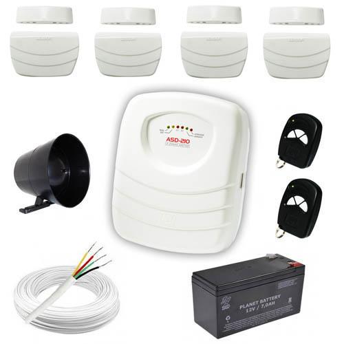 Kit Sistema de Alarme Residencial / Comercial com 4 Sensores de abertura sem fio – Completo- JFL  - Tudoseg Cftv - Sistemas de Segurança Eletrônica