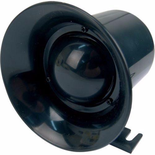 Sirene para alarme ou cerca elétrica 1 tom preta 120db  - Tudoseg Cftv - Sistemas de Segurança Eletrônica