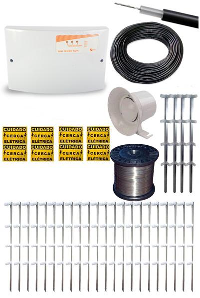 Kit Sistema de Cerca Elétrica 80 metros - Cerca Eletrificada  - Tudoseg Cftv - Sistemas de Segurança Eletrônica