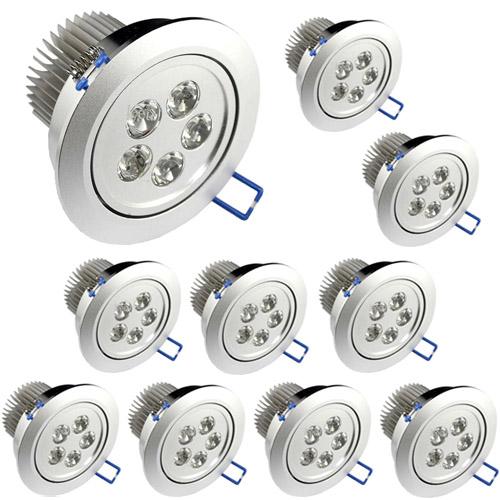 10 Lâmpadas Dicroica Led 5W Spot Direcionável Para Sanca Gesso em Alumínio  - Tudoseg Cftv - Sistemas de Segurança Eletrônica