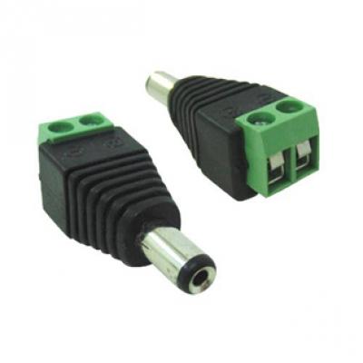 Conector P4 macho com borne para câmeras de segurança  - Tudoseg Cftv - Sistemas de Segurança Eletrônica