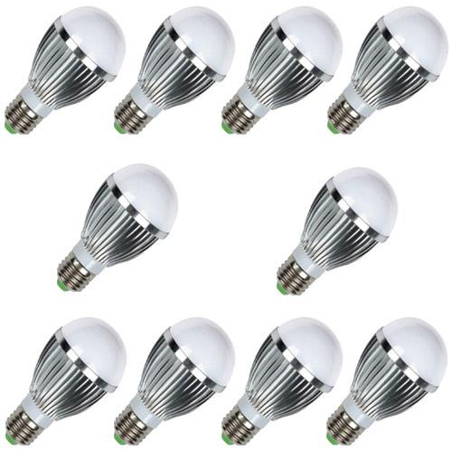 Kit 10 Lâmpadas Led 7W Branco Frio Bulbo E27 em alumínio 110/220V  - Tudoseg Cftv - Sistemas de Segurança Eletrônica