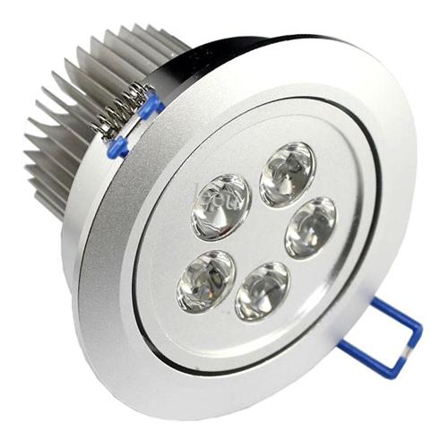 Lâmpada Dicroica Led 5W Spot Direcionável Para Sanca Gesso em Alumínio  - Tudoseg Cftv - Sistemas de Segurança Eletrônica