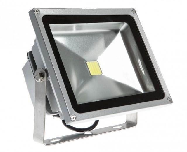 Refletor Holofote de Led Branco Frio 50W Bivolt Prova Dagua  - Tudoseg Cftv - Sistemas de Segurança Eletrônica