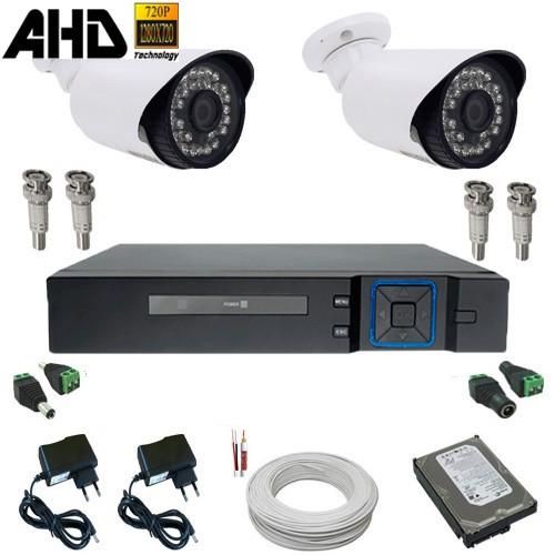 Kit Monitoramento 02 Câmeras Infravermelho 1.3 Megapixel com DVR Multi HD 4 canais - Kit Alta Resolução  - Tudoseg Cftv - Sistemas de Segurança Eletrônica