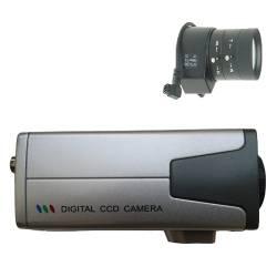 Câmera de segurança profissional CCD Sony 680 linhas 1/3 day night com Lente Auto-Iris Varifocal 3.5/8mm- Alta definição  - Tudoseg Cftv - Sistemas de Segurança Eletrônica