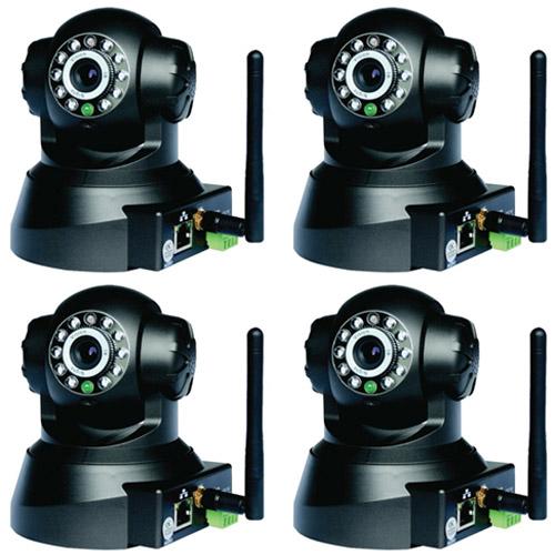 Kit 4 Câmeras IP Sem Fio com Movimentação Acesso Celular e Computador  - Tudoseg Cftv - Sistemas de Segurança Eletrônica