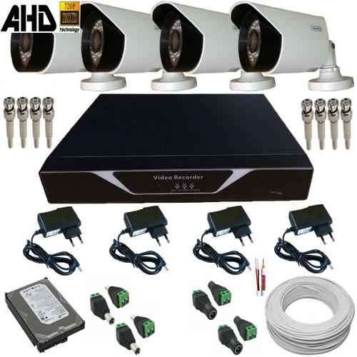 Sistema de Monitoramento Câmeras AHD 1.0 Megapixel com Gravador Dvr Acesso Celular - Alta Definição  - Tudoseg Cftv - Sistemas de Segurança Eletrônica