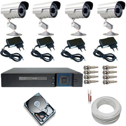 Kit Completo 4 Câmeras Infravermelho Gravador Dvr Stand Alone Multi HD + HD 160GB  - Tudoseg Cftv - Sistemas de Segurança Eletrônica