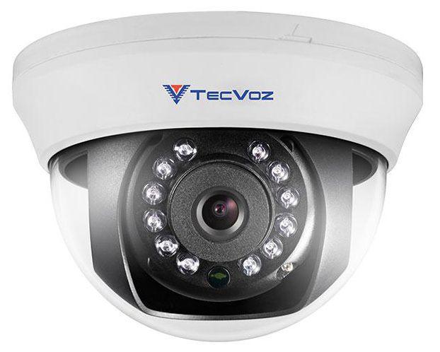 Câmera de Vigilância Tecvoz Dome 800 linhas 1/3 Infra vermelho 25 metros 2,8mm  - Tudoseg Cftv - Sistemas de Segurança Eletrônica