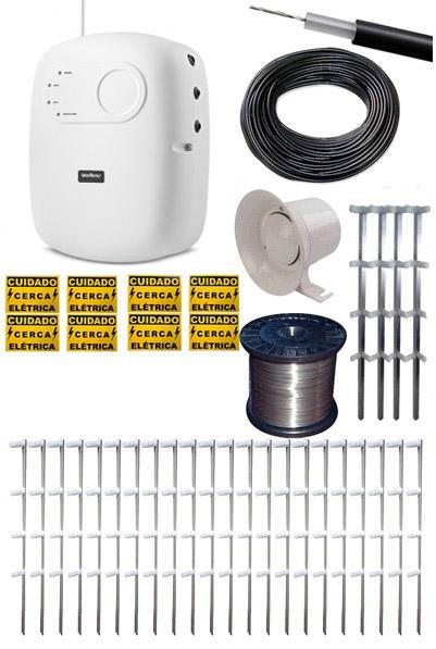 Kit Cerca Elétrica Intelbras para Terrenos 10X20 20.000V  - Tudoseg Cftv - Sistemas de Segurança Eletrônica