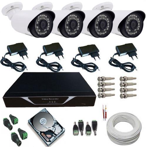 Kit Sistema de Monitoramento Completo 04 Câmeras Infra 1400 linhas Acesso Celular  - Tudoseg Cftv - Sistemas de Segurança Eletrônica