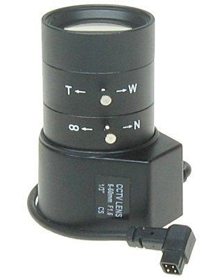 Lente Auto-íris Varifocal 6/60mm para Câmeras Profissionais  - Tudoseg Cftv - Sistemas de Segurança Eletrônica