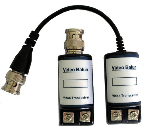 Vídeo balum passivo para 400 metros- Amplificador de Vídeo- Conversor par trançado  - Tudoseg Cftv - Sistemas de Segurança Eletrônica