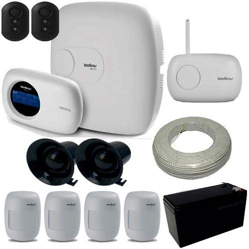 Alarme Intelbras 1 Central AMT 2018 E Ethernet 18 Zonas + 4 Sensores Infravermelho Sem Fio  - Tudoseg Cftv - Sistemas de Segurança Eletrônica