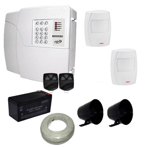 Alarme Residencial e Comercial PPA Central 4 Setores Com Discadora + 2 Sensores Infravermelho Pet 20Kg  - Tudoseg Cftv - Sistemas de Segurança Eletrônica