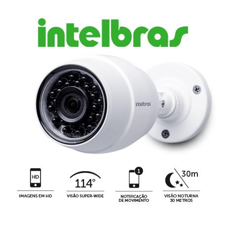 Câmera de Segurança IC5 Intelbras IP Wifi Infravermelho Resolução AHD 720p  - Tudoseg Cftv - Sistemas de Segurança Eletrônica
