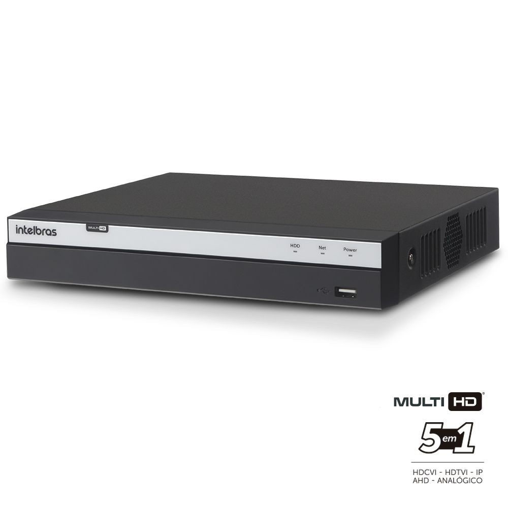 DVR Stand Alone Intelbras 8 canais Multi HD MHDX 3008 Full HD Com Acesso à Internet  - Tudoseg Cftv - Sistemas de Segurança Eletrônica