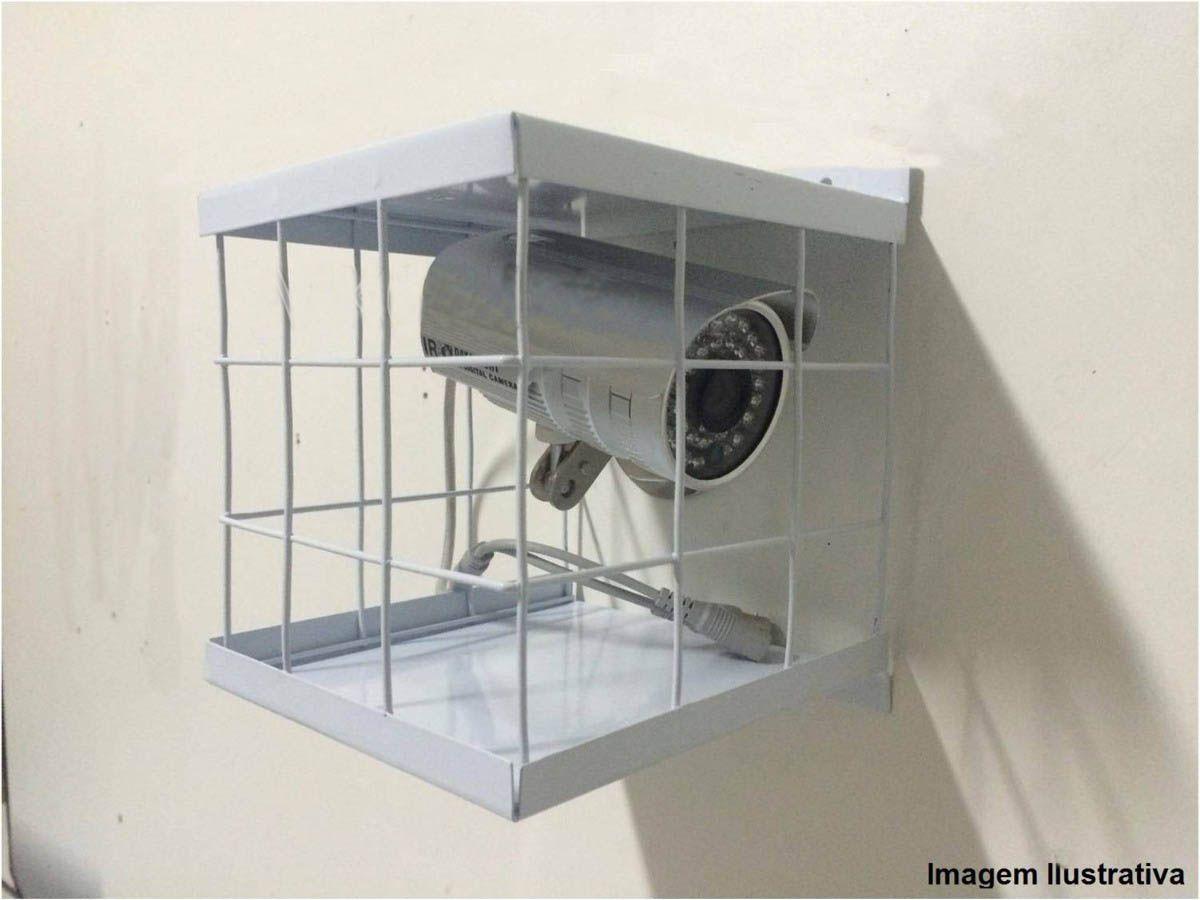 Grade de Proteção para Câmeras de Segurança formato Gaiola Antivandalismo  - Tudoseg Cftv - Sistemas de Segurança Eletrônica