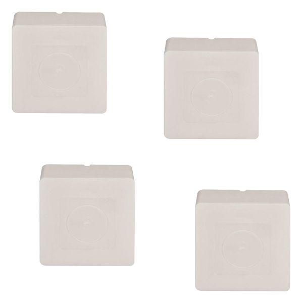 Kit 4 Caixas de Sobrepor Quadrado para Proteção de Conectores de Câmeras de Segurança  - Tudoseg Cftv - Sistemas de Segurança Eletrônica
