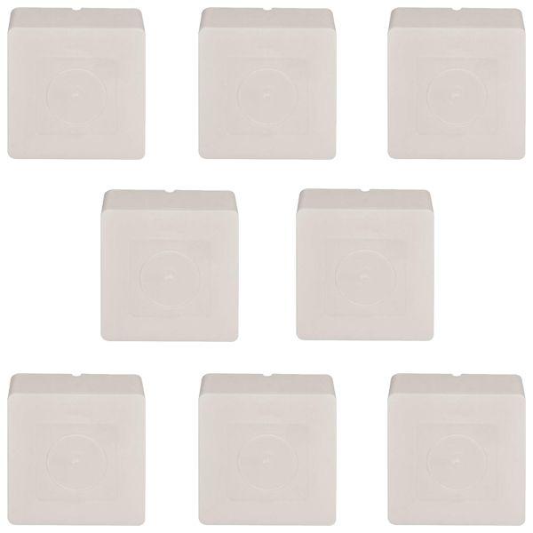 Kit 8 Caixas de Sobrepor Quadrada para Proteção de Ligações e Conectores de Câmeras de Monitoramento  - Tudoseg Cftv - Sistemas de Segurança Eletrônica